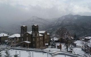 Χιονισμένη πρωτοχρονιά στην ορεινή Ναυπακτία