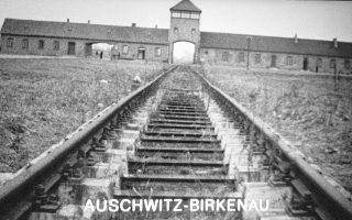 Auschwitz-Birkenau, camp de concentration, voie ferrιe