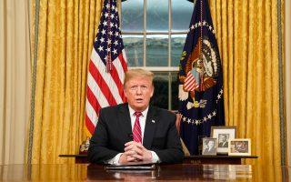 Με πρόσχημα τα προβλήματα που αντιμετωπίζουν στο εσωτερικό των χωρών τους απουσίασαν ο Αμερικανός πρόεδρος Ντόναλντ Τραμπ (φωτ.), ο Κινέζος ομόλογός του Σι Τζινπίνγκ, η Βρετανίδα πρωθυπουργός Τερέζα Μέι και ο Γάλλος πρόεδρος Εμανουέλ Μακρόν.