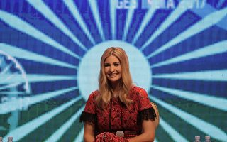 U.S. presidential adviser Ivanka Trump participates in a panel discussion during Global Entrepreneurship Summit in Hyderabad, India, Wednesday, Nov. 29, 2017. Trump arrived in Hyderabad on Tuesday to lead a U.S. delegation of 350 at the Global Entrepreneurship Summit being held in the city. The three-day summit was jointly co-hosted by the U.S. and India this year. (AP Photo/Manish Swarup)