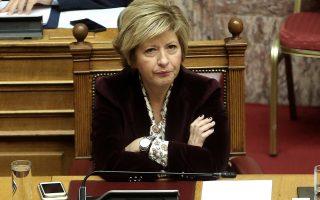 Η υφυπουργός Εθνικής Άμυνας Μαρία Κόλλια-Τσαρουχά παρίσταται στη συζήτηση στην Ολομέλεια της Βουλής του σχεδίου νόμου: «Κύρωση του Μνημονίου Συνεργασίας μεταξύ του Ανώτατου Συμμαχικού Διοικητή Μετασχηματισμού (SACT) και του Υπουργείου Εθνικής Άμυνας της Ελληνικής Δημοκρατίας, σχετικά με την τοποθέτηση Εθνικού Αντιπροσώπου Συνδέσμου στο Στρατηγείο της Ανώτατης Συμμαχικής Διοίκησης Μετασχηματισμού και των ανταλλαγεισών επιστολών περί παράτασης της ισχύος του ανωτέρω Μνημονίου», Αθήνα, Τετάρτη 09 Ιανουαρίου 2019. ΑΠΕ-ΜΠΕ/ΑΠΕ-ΜΠΕ/ΣΥΜΕΛΑ ΠΑΝΤΖΑΡΤΖΗ