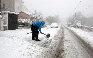 Το κύμα κακοκαιρίας έφερε χιόνια σε όλους τους νομούς της Μακεδονίας και επηρέασε όλη τη Θεσσαλία και τη Στερεά Ελλάδα.