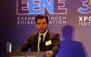 Ο πρόεδρος της Ελληνικής Ενωσης Επιχειρηματιών και διευθύνων σύμβουλος του Ομίλου Ιατρικού Αθηνών Βασίλης Αποστολόπουλος.