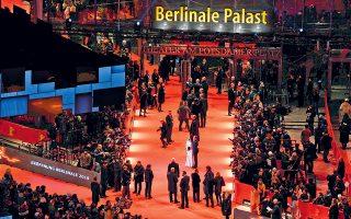 Γενική άποψη της εναρκτήριας βραδιάς, με ηθοποιούς και κοινό στο φημισμένο Φεστιβάλ του Βερολίνου.