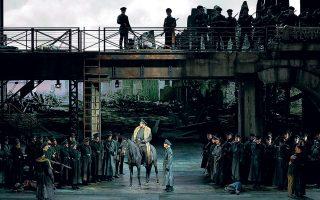 Παράσταση της όπερας «Αττίλας» του Βέρντι στο θέατρο «Λα Σκάλα» του Μιλάνου τον Δεκέμβριο του 2018.