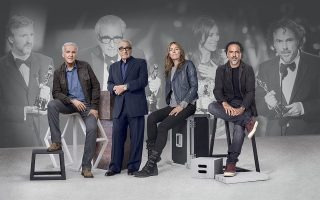 Οι τέσσερις κορυφαίοι σκηνοθέτες και πρεσβευτές της Rolex, Τζέιμς Κάμερον, Μάρτιν Σκορτσέζε, Κάθριν Μπίγκελοου και Αλεχάντρο Ινιαρίτου