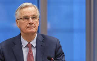 European Union chief Brexit negotiator Michel Barnier attends a Brexit Steering Group meeting at the European Parliament in Brussels on Wednesday Jan. 30, 2019. British Prime Minister Theresa May on Tuesday won a few weeks to salvage a Brexit deal but headed toward a clash with the European Union by promising to overhaul the divorce agreement she spent a year and a half negotiating with the bloc. (AP Photo/Geert Vanden Wijngaert)