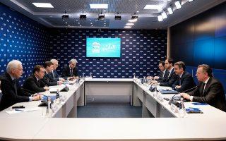Ο κ. Κυρ. Μητσοτάκης κατά τη χθεσινή συνάντησή του στη Μόσχα με τον πρωθυπουργό της Ρωσικής Ομοσπονδίας Ντμίτρι Μεντβέντεφ.