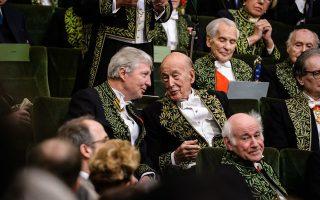 Ο πρώην πρόεδρος της Γαλλικής Δημοκρατίας Βαλερί Ζισκάρ ντ' Εστέν σε συνεδρίαση της Ακαδημίας το 2016.