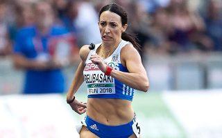 Να καταρρίψουν ρεκόρ ή να ανέβουν στην παγκόσμια κατάταξη θα προσπαθήσουν οι Ελληνες πρωταθλητές (στη φωτ. η Μπελιμπασάκη).
