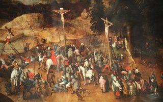 Η «Σταύρωση» του Πίτερ Μπρίγκελ του νεότερου είναι γνωστό έργο τέχνης, του οποίου υπάρχουν πολλά αντίγραφα με μικρές διαφορές μεταξύ τους.