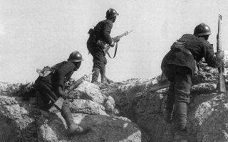 Εν ώρα μάχης (Εθνικό Ιστορικό Μουσείο, Αθήνα).
