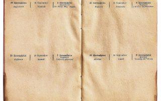 Ημερολόγιο του 1914, στο οποίο αναγράφονται οι ημερομηνίες και με τα δύο ημερολόγια.