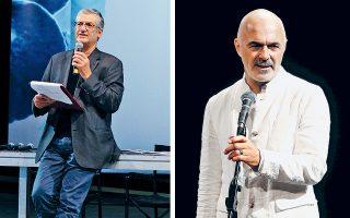 Ο Β. Θεοδωρόπουλος (αριστερά) πήρε πεντάμηνη παράταση και άφησε αιχμές για τα εσωτερικά του φορέα, ενώ ο Στ. Λιβαθινός (δεξιά) δεν θέλησε να σχολιάσει δημοσιεύματα περί αποχώρησής του.