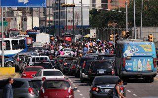 Το μπλακ άουτ προκάλεσε συμφόρηση στους δρόμους του Καράκας.