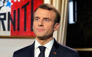 Το σλόγκαν «Ας κάνουμε τον πλανήτη ξανά σπουδαίο» υιοθετεί ο Γάλλος πρόεδρος.