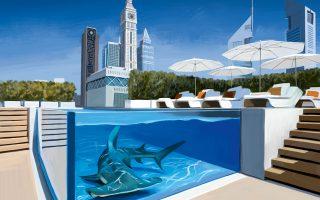 Η φαντασία καλπάζει στη rooftop πισίνα του Four Seasons Hotel Dubai International Financial Centre. (Φωτογραφία: Ignasi Monreal/Assouline/Assouline.com)