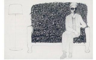 Τα «Εργόχειρα»,, η έκθεση σχεδίων της Ελένης Γλύνη στο «Καφέ του Μουσείου», στο ΕΑΜ.