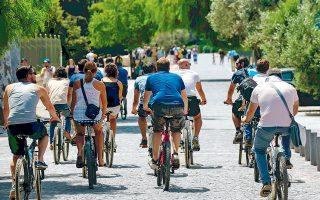 Το βασικό ερώτημα ήταν πώς μπορούν να κατασκευαστούν υποδομές που θα κάνουν τους Αθηναίους να αγκαλιάσουν το ποδήλατο και να νιώσουν ασφαλείς.
