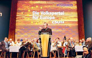 Τη δέσμευση  να τερματίσει τις ενταξιακές διαπραγματεύσεις της Ε.Ε. με την Τουρκία, αν εκλεγεί πρόεδρος της Ευρωπαϊκής Επιτροπής, ανέλαβε χθες ο επικεφαλής του Ευρωπαϊκού Λαϊκού Κόμματος Μάνφρεντ Βέμπερ από το Πασάου της Βαυαρίας (φωτ.). «Ολοι θέλουν καλές σχέσεις με την Τουρκία. Αλλά αν γίνω πρόεδρος της Κομισιόν, θα δώσω εντολή στα γραφεία στις Βρυξέλλες να διακόψουν τις ενταξιακές διαπραγματεύσεις», είπε καταχειροκροτούμενος. «Η Τουρκία δεν μπορεί να γίνει μέλος της Ε.Ε., ας το ξεκαθαρίσουμε».