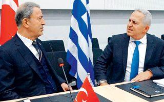 Στο πλαίσιο γενικότερης προσπάθειας εξομάλυνσης των ελληνοτουρκικών σχέσεων ενέταξε, χθες, ο υπουργός Εθνικής Αμυνας Ευάγγελος Αποστολάκης (φωτ.) τις επαφές με τον Τούρκο ομόλογό του, Χουλουσί Ακάρ.