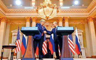 Η ρωσική ανάμειξη στις εκλογές του 2016 αλλά και στις επικείμενες ευρωεκλογές και οι σχέσεις Μόσχας - Ουάσιγκτον όπως διαμορφώνονται επί προεδρίας Τραμπ ετέθησαν μεταξύ άλλων ερωτημάτων στους Ντέιμον Ουίλσον και Βλαντιμίρ Γιακούνιν.
