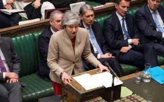 British Prime Minister Theresa May speaks at the House of Commons in London, Britain March 29, 2019.©UK Parliament/MarkDuffy/Handout via REUTERS ATTENTION EDITORS - THIS IMAGE WAS PROVIDED BY A THIRD PARTY