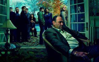 Ο Τόνι Σοπράνο, τον οποίο υποδύεται ο Τζέιμς Γκαντολφίνι και οι υπόλοιποι συντελεστές της σειράς. (REUTERS/Annie Liebowitz)