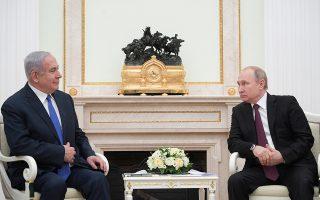 Ο Ισραηλινός πρωθυπουργός Νετανιάχου και ο Ρώσος πρόεδρος Πούτιν.