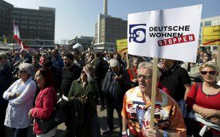 Χιλιάδες κάτοικοι της γερμανικής πρωτεύουσας διαδήλωσαν το Σάββατο απαιτώντας φθηνότερη στέγη.