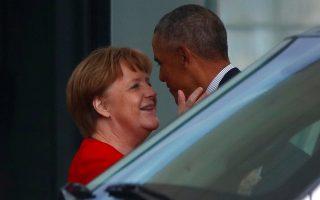 Οι αγάπες. Στην Ευρώπη βρέθηκε ο πρώην πρόεδρος των ΗΠΑ Μπαράκ Ομπάμα και έκανε μια στάση στην Καγκελαρία. Η υποδοχή από την Αγκελα Μέρκελ -αν κρίνουμε από τις φωτογραφίες- πρέπει να ήταν θερμή. Αλλωστε ο Ομπάμα από την σύγκριση με τον τωρινό πρόεδρο των ΗΠΑ, μόνο κερδισμένος μπορεί να βγει. REUTERS/Hannibal Hanschke