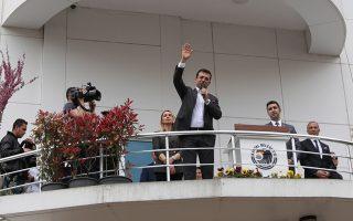 Ο νικητής των εκλογών στην Κωνσταντινούπολη και στέλεχος του CHP, Εκρέμ Ιμαμόγλου.