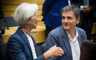 Το θέμα της πρόωρης αποπληρωμής συζητήθηκε κατά τη συνάντηση που είχε ο Ευκλείδης Τσακαλώτος με τη γενική διευθύντρια του ΔΝΤ Κριστίν Λαγκάρντ, στο πλαίσιο της εαρινής συνόδου του Ταμείου στην Ουάσιγκτον.
