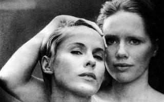 Η Μπίμπι Αντερσον  (αριστερά) με τη Λιβ Ούλμαν, στην «Περσόνα» (1966) του Ινγκμαρ Μπέργκμαν.