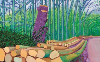 Ντέιβιντ Χόκνεϊ, «The Arrival of Spring in Woldgate», 2011.