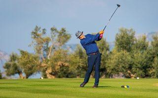 O Μπιλ Μάρεϊ δεν έμεινε ικανοποιημένος από την απόδοσή του στο γκολφ,  αλλά μαγεύτηκε από το μέρος και το ελαιόλαδο της περιοχής.