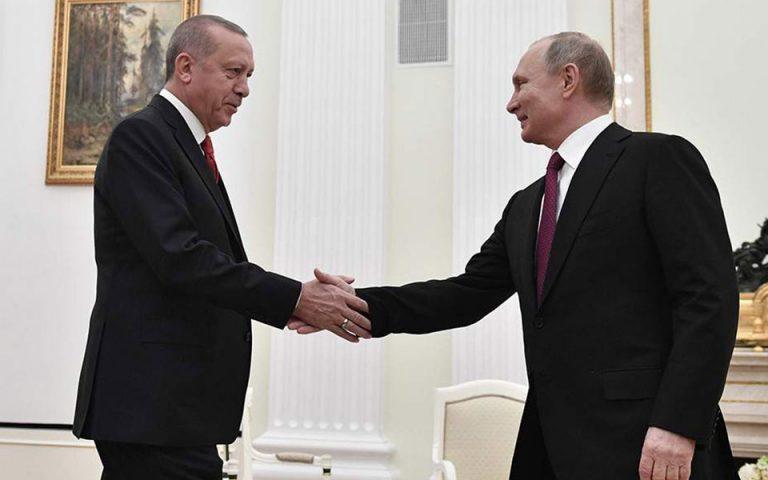 Συνάντηση Πούτιν-Ερντογάν σήμερα στη Μόσχα
