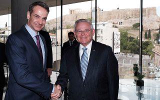 Ο κ. Κυριάκος Μητσοτάκης συναντήθηκε χθες με τον γερουσιαστή των Δημοκρατικών Μπομπ Μενέντεζ.