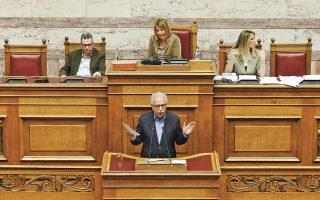 Ο υπουργός Παιδείας Κώστας Γαβρόγλου κατά την ομιλία του, χθες, στην Ολομέλεια της Βουλής.