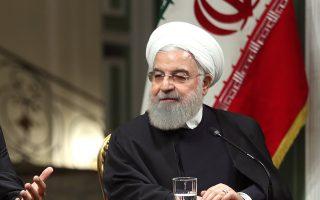 Ο Ιρανός πρόεδρος Χασάν Ροχανί σε συνέντευξή του στην Τεχεράνη.