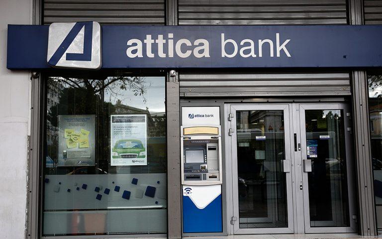 Ζημίες 2,3 εκατ. ευρώ κατέγραψε η Τράπεζα Αττικής το 2018