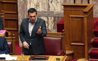 Ο πρωθυπουργός Αλέξης Τσίπρας  μιλά στη σημερινή συνεδρίαση της Ολομέλειας στη Βουλή στη Μόνη συζήτηση και ψήφιση επί της αρχής, των άρθρων και του συνόλου του σχεδίου νόμου: «Συνέργειες Πανεπιστημίων και Τ.Ε.Ι., πρόσβαση στην τριτοβάθμια εκπαίδευση, πειραματικά σχολεία, Γενικά Αρχεία του Κράτους και λοιπές διατάξεις». ΑΠΕ-ΜΠΕ/ΑΠΕ-ΜΠΕ/Αλέξανδρος Μπελτές