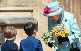 Britain's Queen Elizabeth II arrives at the Easter Mattins Service at St. George's Chapel, at Windsor Castle, Britain, April 21, 2019. Eamonn M. McCormack/Pool via REUTERS