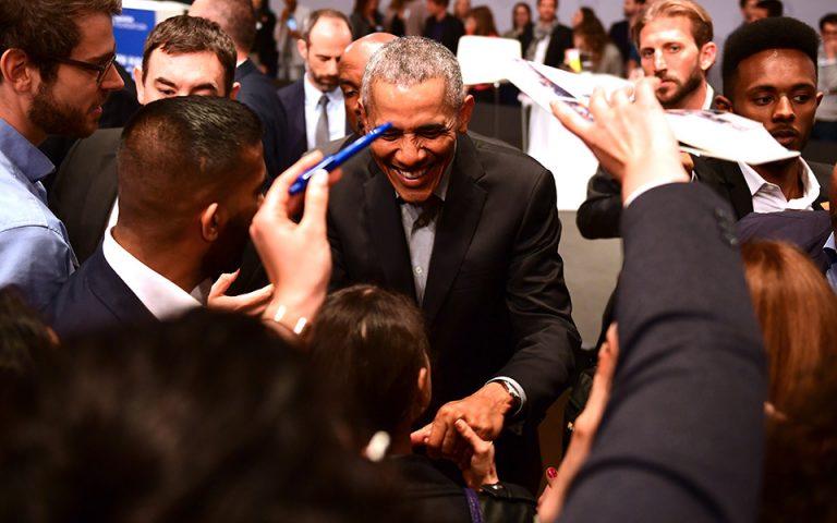 Υποδοχή «ροκ σταρ» επεφύλαξαν οι Γερμανοί στον Ομπάμα (φωτογραφίες)