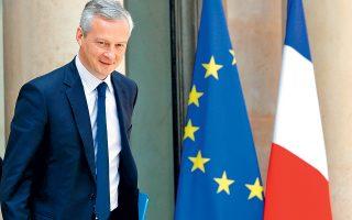 Ο Γάλλος υπουργός Οικονομικών Μπρινό Λε Μερ είπε πως τα μέτρα που θα λαμβάνουν οι εθνικές κυβερνήσεις θα πρέπει να πλαισιώνονται από χαλαρή νομισματική πολιτική εκ μέρους της ΕΚΤ και την ολοκλήρωση ζωτικών μεταρρυθμίσεων στην Ευρωζώνη, περιλαμβανομένων του κοινού προϋπολογισμού, της κοινής αγοράς κεφαλαίων και της τραπεζικής ένωσης.