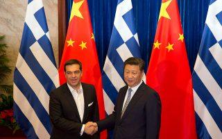 Ο Αλέξης Τσίπρας με τον Κινέζο πρόεδρο, σε παλαιότερη συνάντησή τους.