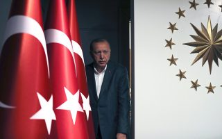 epa07477392 Turkish President Recep Tayyip Erdogan attends a press conference after local elections in Istanbul, Turkey, 31 March 2019. Some 57 milion people voted in local elections in Turkey's capital and the country's overall 81 provinces.  EPA/TOLGA BOZOGLU