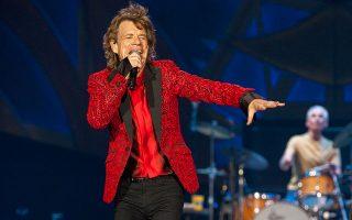 Ο Μικ Τζάγκερ κατά τη διάρκεια συναυλίας των Rolling Stones στην Ιντιανάπολις το 2015. (Barry Brecheisen/Invision/AP, File)