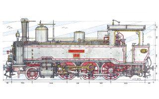 Η ατμάμαξα «Ερύμανθος» μπήκε σε ράγες το 1892 και λειτούργησε μέχρι το τέλος της εποχής του ατμού. Εκτίθεται στο Σιδηροδρομικό Μουσείο Αθηνών.