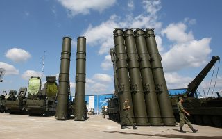 epa07194793 (FILE) - Russian anti-aicraft missile systemes S-300 (R) and S-400 (L) are on display at a military industrial exhibition 'Technologies in machine building' in the city of Zhukovsky, Moscow region, Russia, 11 August 2014 (reissued 28 November 2018). According to reports, Russia is planning to deploy S-400 missile systems on the Crimean Peninsula in the wake of the latest crisis with Ukraine. Three Ukrainian war ships were seized and their crew arrested by Russian navy for an alleged violation of the Russian sea border in the Kerch Strait connection the Balck Sea and the Sea of Azov.  EPA/SERGEI CHIRIKOV